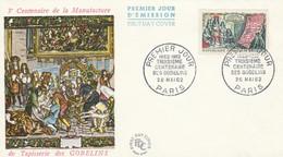 1343 FDC TAPISSERIES Des GOBELINS - PARIS 26.5.62 - 1960-1969