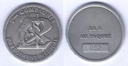 Médaille De La 2e Compagnie Du 1er Régiment Médical ( La 2 Au Paquet ) - ( Marticulé ) - Medical Services
