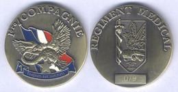 Médaille De La 1ére Compagnie Du Régiment Médical ( Marticulé ) - Medical Services