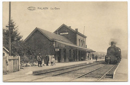 ONHAYE - FALAEN : La Gare - Belle Animation (arrivée Du Train) - Onhaye