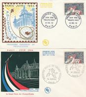 1403 PHILATEC 64 - FDC Du 14.12.63 + GF Du 14.6.64 - 1960-1969