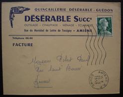 Amiens R.P. 1958 Quincaillerie Désérable -Guédon  Outillage Chauffage Ménage éclairage - Marcofilia (sobres)