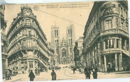 Bruxelles 1921; La Rue Et L'Eglise Ste-Gudule - Voyagé. (Albert - Bruxelles) - Bauwerke, Gebäude