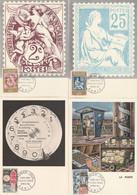 1414 à 1417 4 CP FDC/CM - PHILATEC PARIS 9.5.64 - 1960-1969