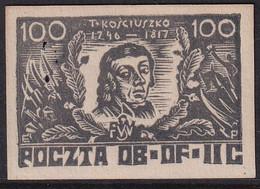 POLAND 1943 Woldenberg Fi 30 Mint No Gum Signed Kronenberg - Gevangenkampen