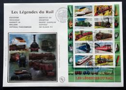 Enveloppe FDC Grand Format 2001 - LES LEGENDES DU RAIL - 2000-2009