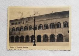 Cartolina Illustrata Parma - Palazzo Vescovile, Viaggiata Per Milano 1944 - Parma
