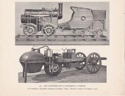 Chromo : Image Pédagogique : 1é Chaudière Tubulaire - Seguin - Chariot à Vapeur - Cugnot : Transport : Voir Description - Autres