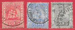 Guyane Britannique N°107, 109, 110 1906-08 O - British Guiana (...-1966)