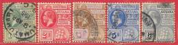 Guyane Britannique N°113 à/to 117 George V 1913-17 O - British Guiana (...-1966)