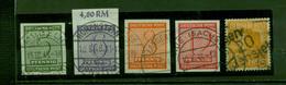 SBZ, Wertziffern Nr. 116 Y -119 Y Gestempelt - Soviet Zone