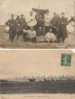MILITARIA - Camp Du RUCHARD  Vue Générale Des Tentes + 1 Carte Photo 135è De Ligne - Casernas