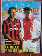 Revue Onze Mondial N°76 (mai 1995)Equipe De France - Finale Ajax-Milan - Deschamps  - Fiches Et Poster - Sport