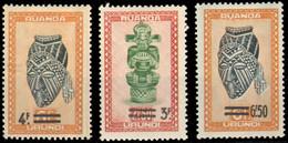 Ruanda 0173/75  Artisanat Et Masques  Sans Gomme Without Gum - 1948-61: Mint/hinged