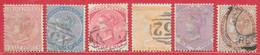 Jamaïque N°7 à/to 9, 11a à/to 13 Victoria (filigrane CC) 1870-72 O - Jamaica (...-1961)