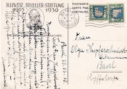 SUISSE 1930 CARTE POSTALE DE BALE - Covers & Documents