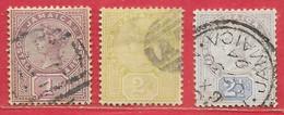 Jamaïque N°27 à 29 Victoria 1889-90 O - Jamaica (...-1961)