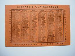 Petit Calendrier 1969 - Librairie CLAIRAFRIQUE Dakar Sénégal - Petit Format : 1961-70