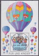 Deutschland 1997: Für Uns Kinder: Heißluftballone, Mi Block 40 Sonderstempel - Gebraucht