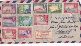 CURACAO 1946 PLI AERIEN RECOMMANDE DE WILLEMSTAD - Curaçao, Nederlandse Antillen, Aruba