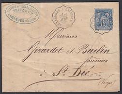 France 1877- Lettre De Granges (Vosges) à Destination St. Dié (Vosges). Cachet Convoyeur.. (DD) DC-9343 - 1876-1898 Sage (Tipo II)