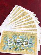 LITHUANIA BANKNOTE 0.50 TALONAS - P.31a 1991/10PCS UNC - Lituania