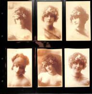 Lot De 12 CPA - Belle époque - Femmes - Mode - élégantes - Portraits Sépia - Photos A N Paris - - Fashion
