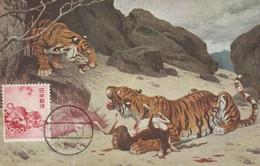 Carte Maximum -  Nouvel An 1949 - Tigre - Maximumkaarten