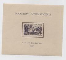 EXPOSITION INTERNATIONALE  1937  ARTS ET TECHENIQUES - COTE DES SOMALIS - BLOC YT N° 1 NEUF LUXE COTE 16 EUROS - Nuovi
