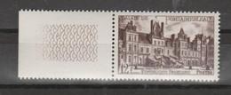 """FRANCE / 1951 / Y&T N° 878 ** : """"Touristique"""" (Château De Fontainebleau - Seine-et-Marne) X 1 BdF G - Unused Stamps"""