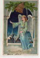 DC4424 - Fröhliche Weihnachten -  Sehr Schöne Motivkarte  - Engel Am Glockenturm - Altri