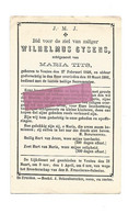 DD 297. WILHELMUS GYSENS  Echtg. M. TITS - °VEULEN 1848 En Aldaar + 1881 - Devotion Images