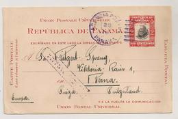 ENTIER POSTAL 1916 / DE PANAMA A BERNE SUISSE SWITZERLAND    C1313 - Panama