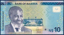 NAMIBIA 10 DOLLARS P-16  FAUNA ANIMALS SPRINGBOK 2015 UNC - Namibië