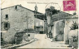 VALERNES - L' ARRIVEE - CLICHE TRES RARE - - Andere Gemeenten