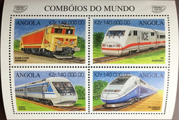 Angola 1997 Pacific '97 Trains Of The World Sheetlet MNH - Angola