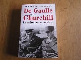 DE GAULLE ET CHURCHILL Histoire Guerre 40 45 Politicien Britannique Anglais Royaume Uni Politique Angleterre France - Guerra 1939-45