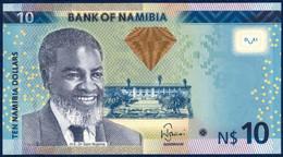 NAMIBIA 10 DOLLARS P-11a  FAUNA ANIMALS SPRINGBOK 2012 UNC - Namibië