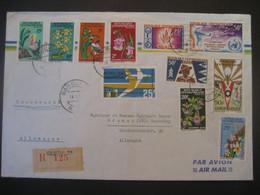 Zentralafrika 1967- FP-Reco Beleg Mit Schönen Sondermarken - Central African Republic