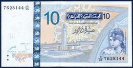 TUNISIA 10 DINARS P-90 Elissa Founder Carthage City, Mosque - Sbeitla Temple, Satellite Antenna 2005 UNC - Tunisia