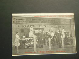 Belgique  België ( 3705 )   Bruxelles  Exposition Universelle 1910 -  Maison A. Tirou - Diricq  Charleroi  Cigarette - Exposiciones Universales