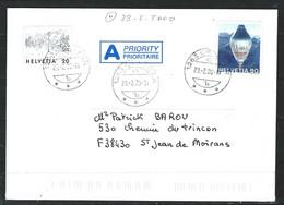 NZ-/-065 C.- LETTRE OBL. Du 29.02.2000, Au TARIF POUR LA FRANCE = 1.10 CHF , TB - VOIR DETAIL - Lettres & Documents