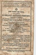 Souvenir Mortuaire VERHEYDEN Maximilianus (1781-1855) Geboren TeLIPPELOO Overleden Te ONZE-LIEVE-VROUW-LOMBEEK - Andachtsbilder