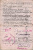 PRISONNIER DE GUERRE - RARE DOCUMENT - DE MISE EN CONGE DE LA CAPTIVITE ALLEMANDE - 10 JUILLET 1943 - STALAG IA . - WW II