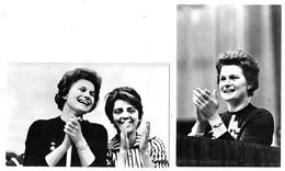 Valentina Tereschkowa 2 Cartes Cosmonaute  Berlin 1963 état Superbe - Donne Celebri