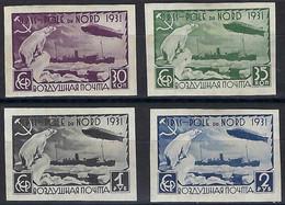 ⭐ Russie - Poste Aérienne - YT N° 27 à 30 * - Non Dentelé - Neuf Avec Charnière - Zeppelin - 1931 ⭐ - Ongebruikt