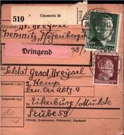 ! 1943 Chemnitz 26 Nach Eilenburg, Sachsen, Paketkarte, Deutsches Reich, 3. Reich - Lettres & Documents
