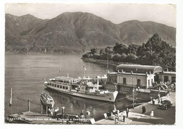 O3748 Locarno - Lago Maggiore - Debarcadero - Panorama Coi Monti Tamaro E Gambarogno - Barche Boats Bateaux Auto - TI Tessin