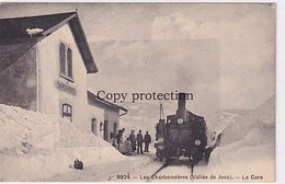Les Charbonnières (Vallée De Joux) - La Gare - Train Vapeur         (01008) - VD Vaud