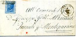 Lettera Per MONTEPARANO Affr. 20 Cent T20 (FIRMATA) - Non Classés